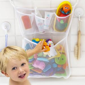 Bath Toy Organiser Basket Suction Cup Baby Bathtub Toy Mesh Net Storage Bag New