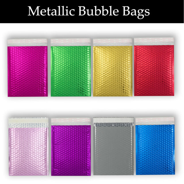 Metallic Bubble Padded Envelopes PINK Mailer All Size Fast/&Free Delivery