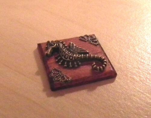 1//12 maison de poupées miniature hippocampe salle de bain photo sea horse beach fishing LGW