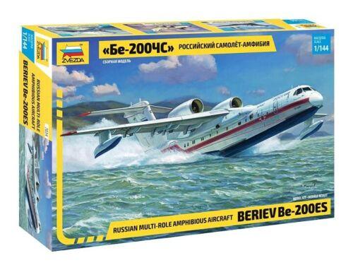 Russian Multi-Role Amphibious Aircraft Beriev Be-200ES  7034  Zvezda 1:144 New!