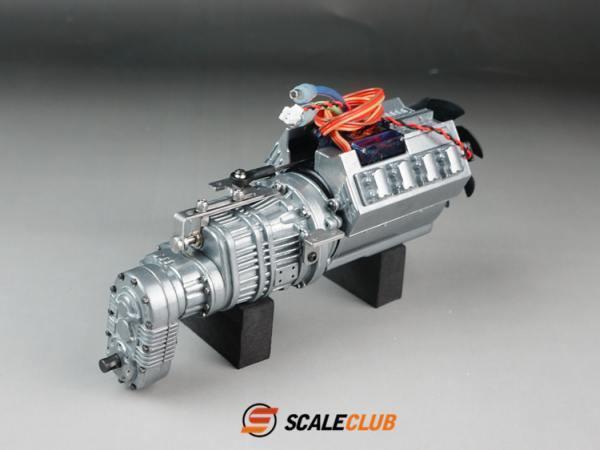 Caja de transmisión de velocidad METAL 3 V8 wtbcar para Tamiya Actros Man Scania