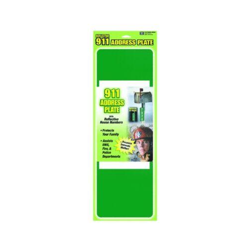 "Hy-Ko 911 Address Kit Reflective Reflective Weather Resistant Green 4-5/8"""