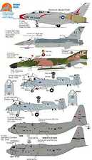 Wolfpak calcomanías 72-052 F-100c F-16 A-10a f-4d Jet Falcon Phantom Hercules Sabre