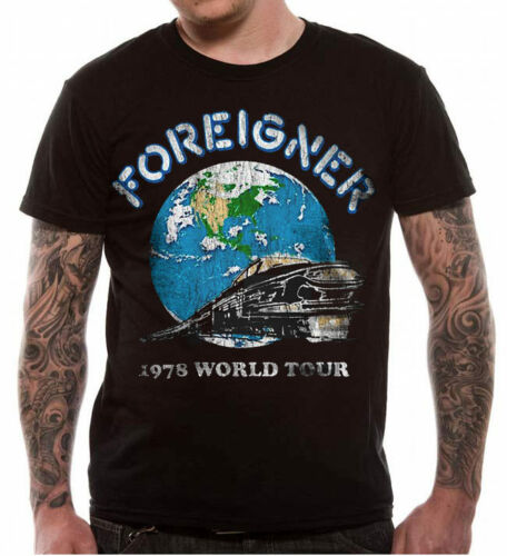 OFFICIAL Foreigner World Tour 78 T Shirt Album Cover Art Lou Gramm