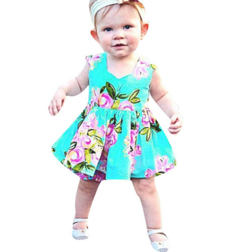 Summer Toddler Baby Girl Children Kids Floral Sundress Casual Princess Dresses
