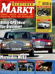 Automobilia Intellektuell Oldtimer Markt 2005 6/05 Mercedes W123 Allard J2 Mgb Renault Dauphine Simson Hrd Keine Kostenlosen Kosten Zu Irgendeinem Preis