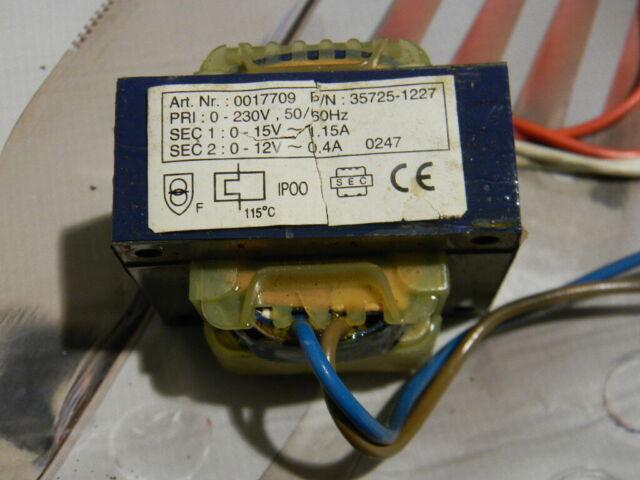 Jura Krups AEG CafaMosa CF Trafo 15V 1,15A 12V 0,4A Transformator GEBRAUCHT