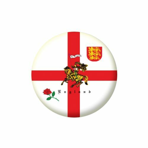 St George Charger Flag Pin Button Badge Magnet Keyring Bottle Opener Mirror