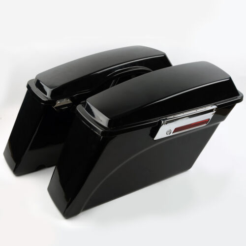 Chrome Conversion Brackets For Harley Softail FXST Hard Saddlebags W// Latch Key