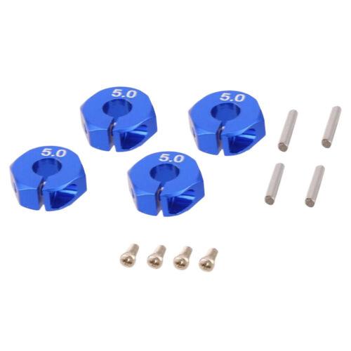 RC Adapter Auto Rad Hex-Laufwerk Hub 12mm 7//6//5mm Rot//Blau Leicht Upgrade