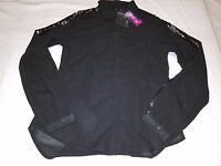 Glo Jeans Black Sequins Long Sleeved Button Up Women's Shirt Size Medium-nwt