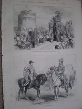 Lord Lytton at Delhi Durbar India and Indian Herlalds 1877 old prints ref W3