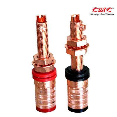 Viborg 4xRC102G High End Pure Copper Gold Plated Screw Locking RCA Socket