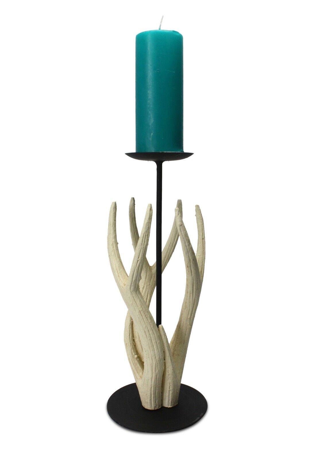 Thai Carved Wooden Antler Candle Holder, Medium 38cm high. Thailand. Handmade.