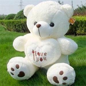 50cm giant large huge big teddy bear soft plush toy i love you image is loading 50cm giant large huge big teddy bear soft voltagebd Image collections