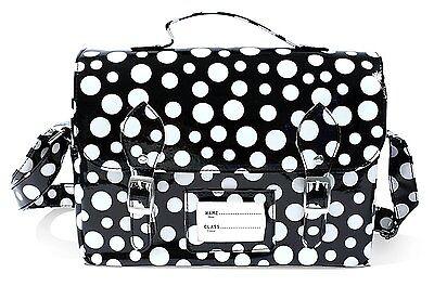 Satchel Insulated Lunch Bag, Kids PVC Polka Dot Black