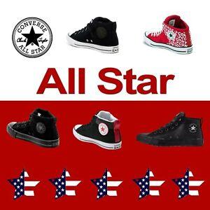 CONVERSE-CANVAS-LEATHER-MID-CHUCK-TAYLOR-034-ALL-STAR-034-HI-STREET-BLACK-WHITE-UNISEX