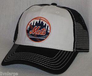 41233948313 New York Mets Cap ~CLASSIC MLB PATCH LOGO ~RETRO SNAP BACK ~BLACK ...
