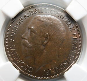 GREAT-BRITAIN-England-1-2-penny-1920-NGC-AU-58-UNC