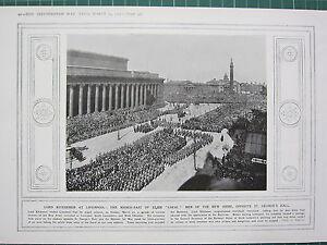 1915 Première Guerre Mondiale G.mondiale 1 Imprimé ~ Lord Kitchener à Liverpool Hynpj0mq-08000558-730514461