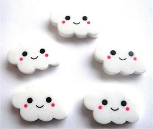 Gorgeous Resin Smiley Cloud Flatback Embellishments Fast Free Pp