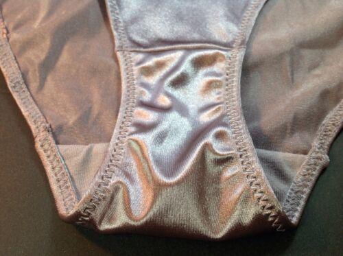 "Mocha Satin Soft SilkyW//Decoration Women Vintag Panties,Bikinis/""Ilusion/""Size XL"
