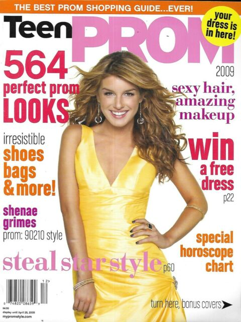 Teen Prom Magazine Shenae Grimes Gowns Shoes Bags Hairstyles Makeup Fashion 2009 For Sale Online Ebay