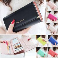 New 2015 Lady Fashion Women Purse Long Wallet Bags PU Handbags Card Holder Gift