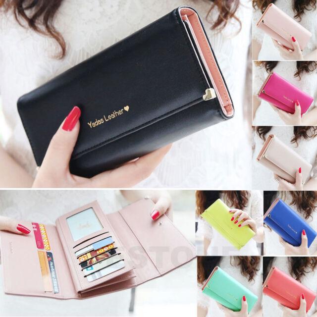 New Fashion Lady Women Purse Long Wallet Bags PU Handbags Card Holder Gift