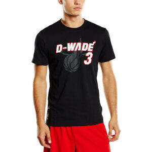 Adidas-Nickname-TEE-Dwyane-Wade-Mens-Sports-T-Shirt-Basketball-Miami-Heat-Jersey