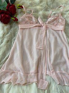 Undersexy-Ragno-pink-Camisole-Top-sleepwear-nightwear-size-us34-it3-eu75