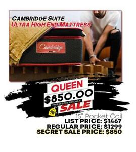 $2000 Queen Size Pillowtop Mattress Ultra High End for $850 **BRAND NEW FROM FACTORY** Hamilton Ontario Preview