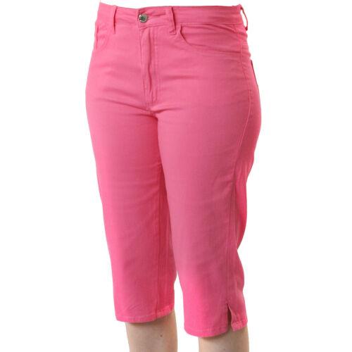 Damen 7//8 Hose Melody in Hot Pink mit Lycra von Jet-Line Capri Stretch Hose