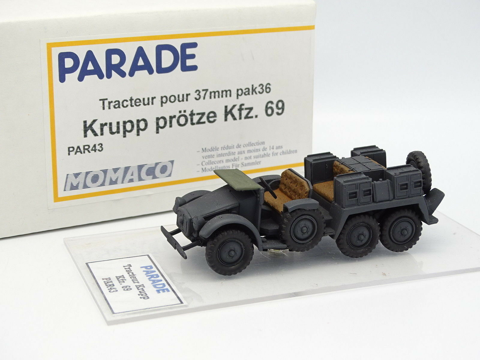 Parade militaire arm é e sb 1   50 - tracteur pour 37mm krupp kfz - 69