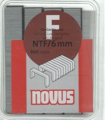 Tacker  Klammern  Typ NTF  NOVUS  10 mm   480 Stück  für  Swingline  LUX Peugeot