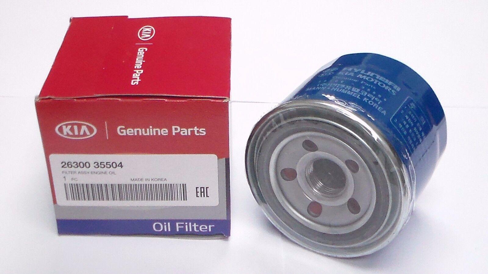 New Kia Facotry Oil Filter OEM 2630035503 Optima Sedona ...