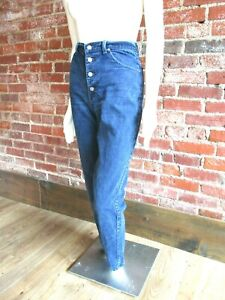 90s Vintage light wash high waist tapered SASSON jeans with button fly Size 9 26 inch waist 90s Aesthetic 90s Jeans Triangle Button Fly