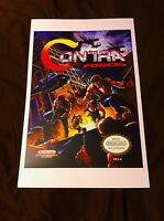 Contra Force 11x17 Box Art Poster - Nintendo Nes No Game Action -