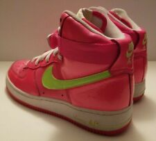 Nike Air Force 1 One High Tops Us 8 Eru 39 Neon Pink Yellow 334031 600 Shoes Oop For Sale Online