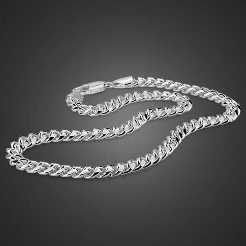 Genuine Solid Sterling Silver Rope Link Chain Men's Necklace 20
