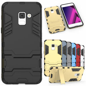 finest selection 8f1f2 e5ecf Details about For Samsung Galaxy A8 (2018) Case Slim Armor Hybrid Kickstand  Hard Phone Cover