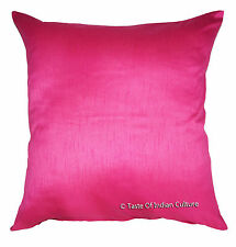 "X Large 24"" Pink Cushion Pillow Cover Dupion Silk Sofa Throw Floor Decorative"