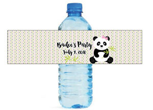 Panda Party Kids Birthday Baby Shower Water Bottle Labels Easy To Use Self Stic Ebay