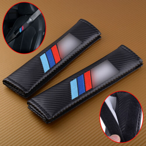 2pcs For BMW Seat Belt //////M Power Performance Logo Safety Shoulder Covers Pads