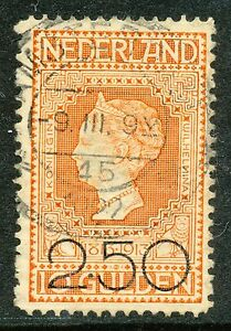 NEDERLAND-1920-2-50-Gld-op-10-Gld-JUBILEUM-1913-GEBRUIKT-Hk613k