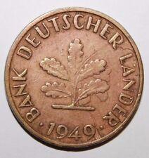 "Difetto di Conio "" Moneta Rara Germania 10 Pfennig 1949 J Amburgo """