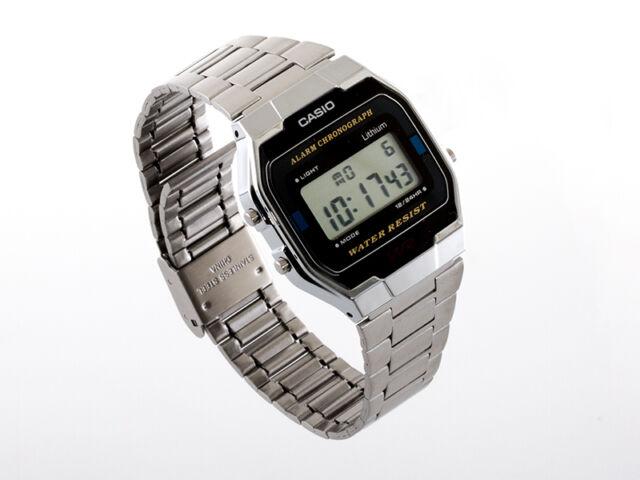 Casio Herrenuhr A163WA-1QES Digital