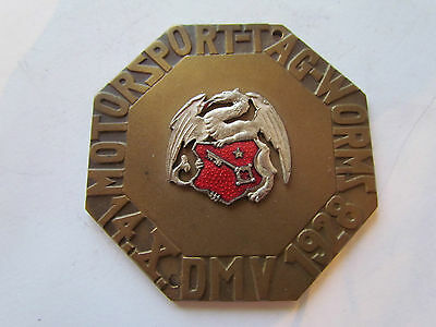 Dynamisch Dmv Motorsport Tag Worms 14.x.1928 - Plakette Badge Autoplakette Plaque Placca