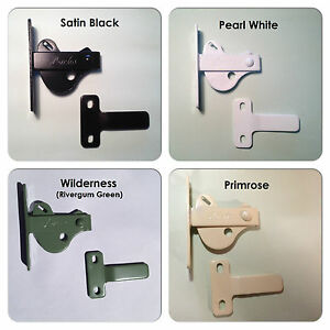 Gate-Latch-Gate-D-039-Latch-amp-Striker-Set-in-Black-White-Primrose-amp-Other-Colours