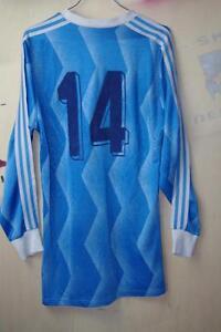 Blue 14 80er Chemise 8 True Trikot Vintage Langarm 80s Adidas Gr 7 Allemagne HZnRxz7q7